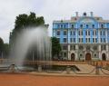 Фонтан на Петроградской набережной