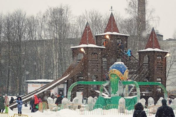 Зимние развлечения в парке им. Бабушкина